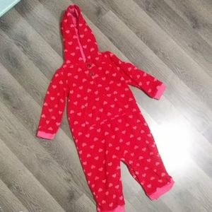 Carter's Fleece bodysuit with hood